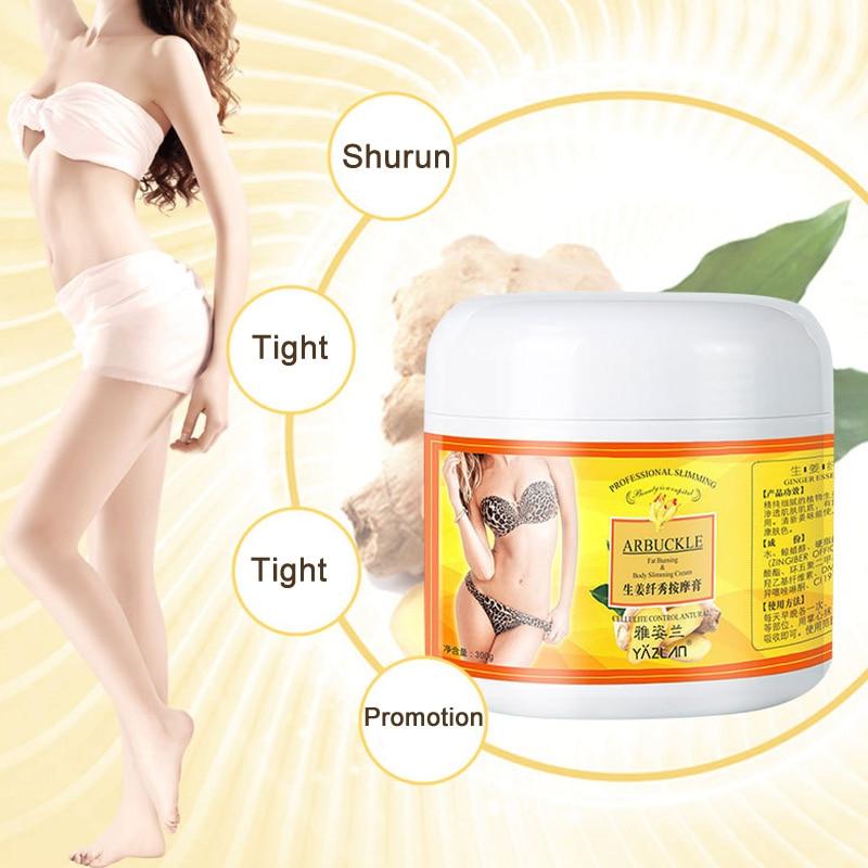 300g Ginger Full Body Slimming Cream Anti-cellulite Body Shaping Gel Moisturizing Firming JLRD 2019
