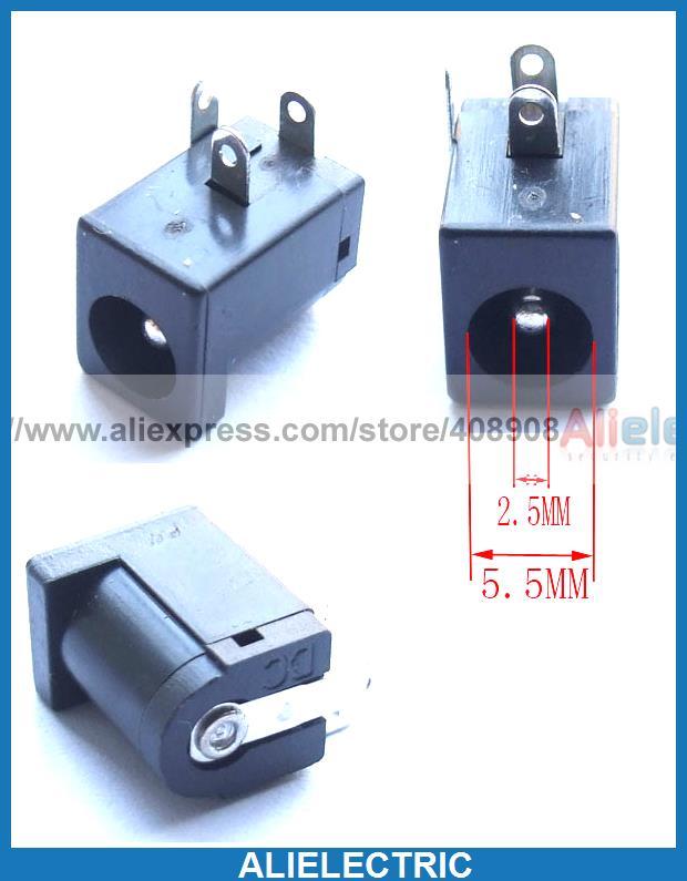 500pcs  DC Power 5.5mm X 2.1 mm  PCB socket charger Connectors