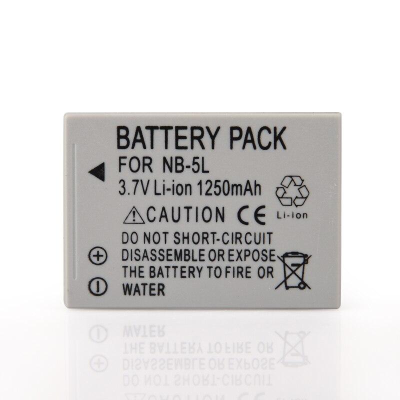 1250mAh Camera Battery Pack NB-5L NB 5L NB5L Bateria For Canon SX200is SX220HS SX230HS CB-2LXE PowerShot S100 S110 SD950 SD970 цена