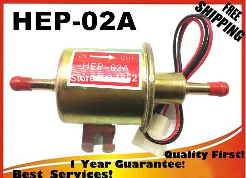 HAUTE QUALITÉ diesel essence essence 12 V électrique pompe à carburant HEP-02A HEP02Alow pression pompe à carburant pour carburateur, moto ATV