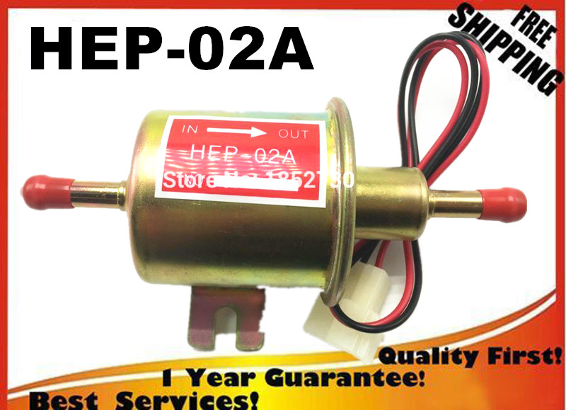 HIGH QUALITY diesel petrol gasoline 12V electric fuel pump HEP-02A HEP02Alow pressure fuel pump for carburetor, motorcycle ATV electronic fuel pump hep 02a 12v 24v car modification gas diesel low pressure petrol for motorcycle toyota ford yanmar nissan