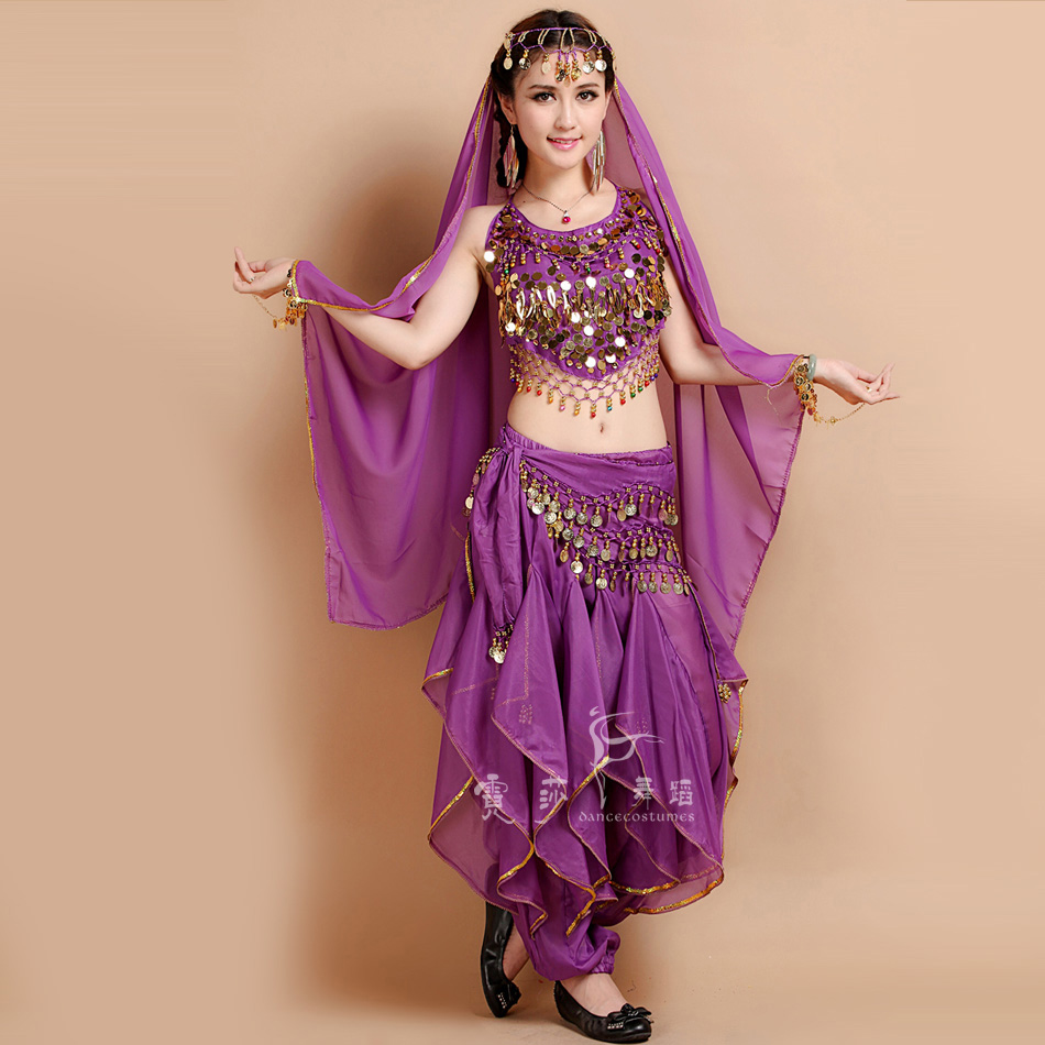 Aliexpress.com : Buy 4pcs Belly Dance Costume Bollywood ...