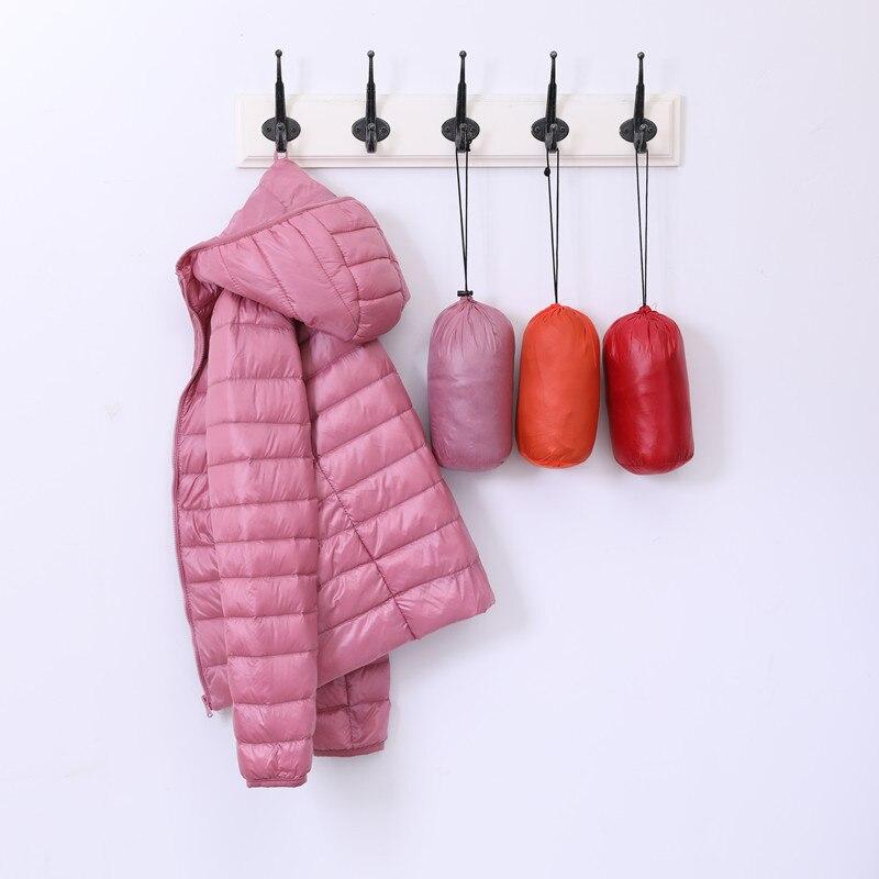 10-Color Winter Women Ultra Light   Down   Jacket 90% Duck   Down   Hooded Jackets Long Sleeve Warm Slim   Coat   Female Outwear Plus Size