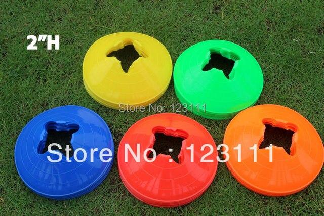 "2""PE Soccer Football Training Cones Sports Marking Cone Marker Disc Cones Saucer Disc Training Aids Agility Versatile Cone 50pcs"