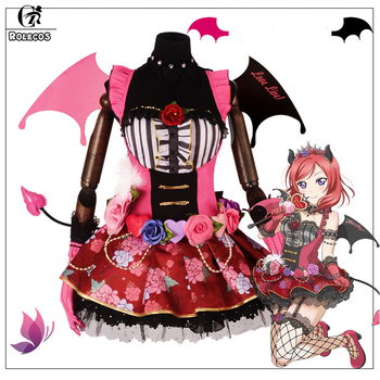 ROLECOS Anime LOVE LIVE Cosplay Costume Little Devil Love Live Cute All Characters Cosplay Costume for Women Halloween Cosplay