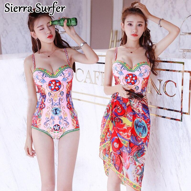 Sexy One Piece Swim Suits May Beach Girls Bikinis Women Woman Plus Size Swimwear Underwire Push Up Suit Plavky Damy Badeanzug