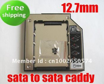 2nd HDD Hard Drive caddy Adapter 12.7mm Universal SATA TO SATA for laptop