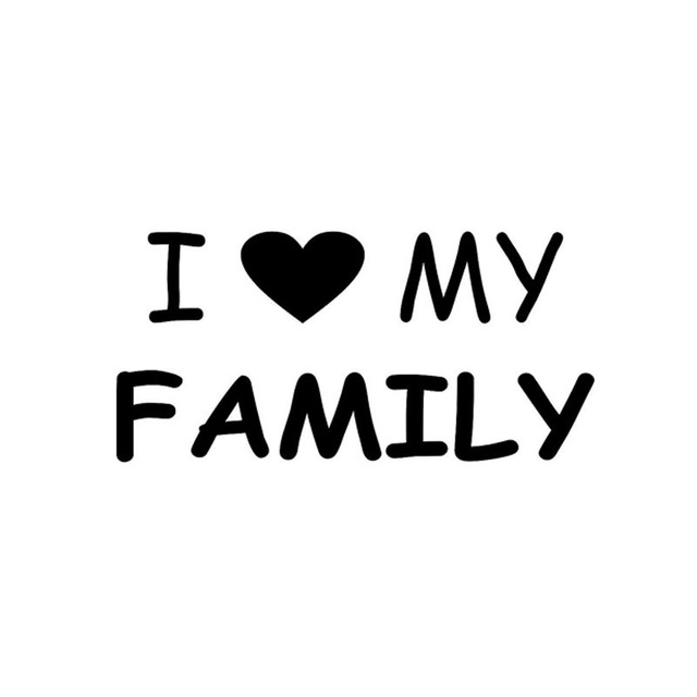 16 58cm i love my family car sticker decal automobile styling motorcycle decoration black