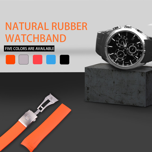 22MM 23MM 24MM Sports Watchband Silicone Rubber Band for Tissot 1853 Classic T03