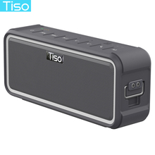 Tiso T15 IPX7 waterproof Bluetooth speaker NFC wireless 20W output stereo loudspeaker outdoor sports portable hook up backlight