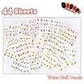 Del Arte del clavo de 44 Hojas/Porción Mezclada Despicable Me Hielo Princesa Hello Kitty Dibujos Animados de Transferencia de Agua Nail Art Sticker Decoración 44 Diseños