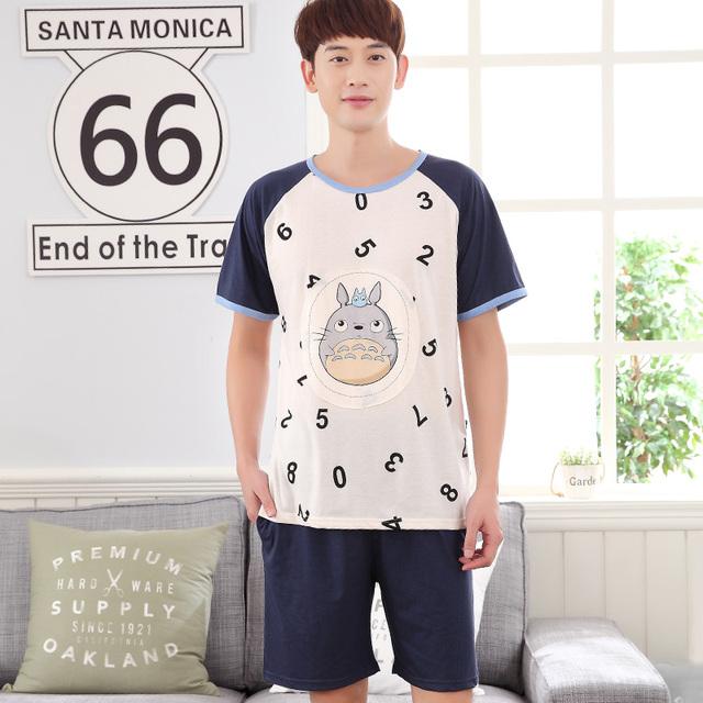 2017-Número y Totoro impresión hombres noche de verano desgaste XL
