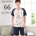 2017 - Number & Totoro printing Men's summer night wear XL