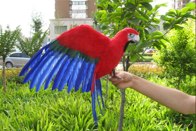 big simulation parrot toy polyethylene & furs wing parrot model doll gift about 60x40cm 0958 new simulation flying parrot toy polyethylene