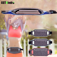 Slim Waterproof Sport GYM Running Waist Belt Pack Cell Phone Case Bag Armband For iPhone X 8 7 5 6 6s 7 Plus Holder 6.0 inch(China)