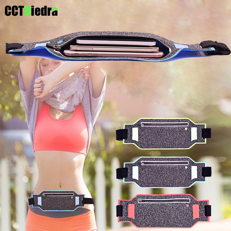 Slim Waterproof Sport GYM Running Waist Belt Pack Cell Phone Case Bag Armband For iPhone X 8 7 5 6 6s 7 Plus Holder 6.0 inch