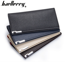 Slim wallet men Thin wallet men leather purse soft men wallets luxury brand famous male clutch money bag small pocket(China)