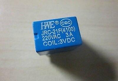 цена на 50pcs Miniature PCB Relay JRC-21F 4100 DC 12V 6 Pins