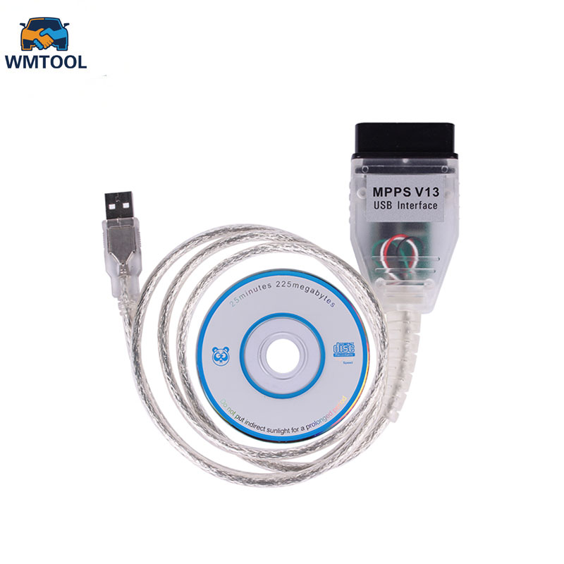 SMPS MPPS V13.02 Auto Voiture De Diagnostic Câble CAN Flasher ECU Chip Tuning Reconfigurer OBD2 Professionnel Scanner Dernière