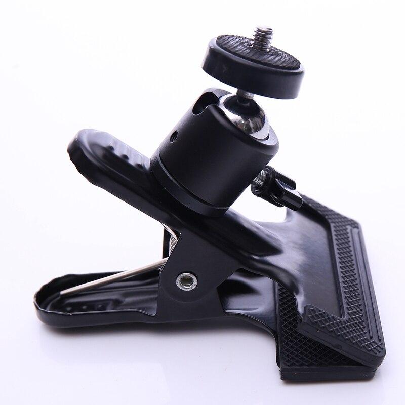 CY 1 tk Professionaalsed fototarvikud, millel on 1/4 kruvipea, saab pöörata Tugev suur klamber kaamerale