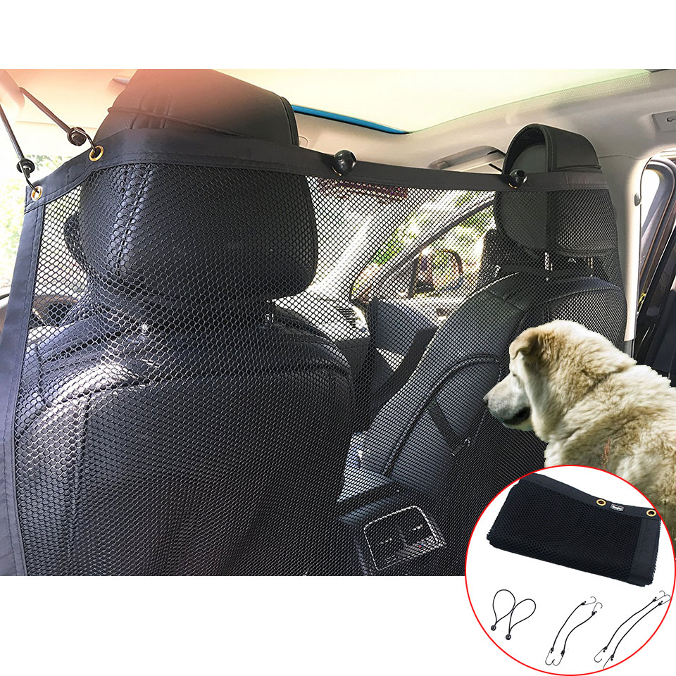 FEELWIND Vehicle Pet Net Barrier Harassment Separation Net Safety Pet Protect Safety Travel Car Pet Tools ...