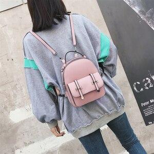 Image 4 - DIEHE חדש לגמרי עיצוב אופנה תרמיל מוצ ילאס נסיעות עור מפוצל קטן תרמיל נשים תרמילי בית ספר נערות שקיות