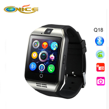 Bluetooth SmartWatch Q18 Touch Screen For iphone7 6 LG camcorder Service Support NFC TF SIM Card