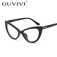 2016 GUVIVI Cat Eye Sun Glasses Brand Designer Sunglasses Oval Frame Glasses Gradient Color Eyeglasses Gafas