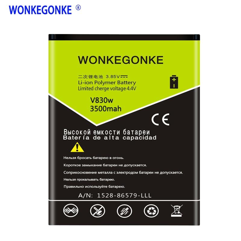 WONKEGONKE Li3818T43P3h695144 Аккумулятор для ZTE V830w Kis 3 Max для ZTE Blade G Lux мобильный телефон Bateria