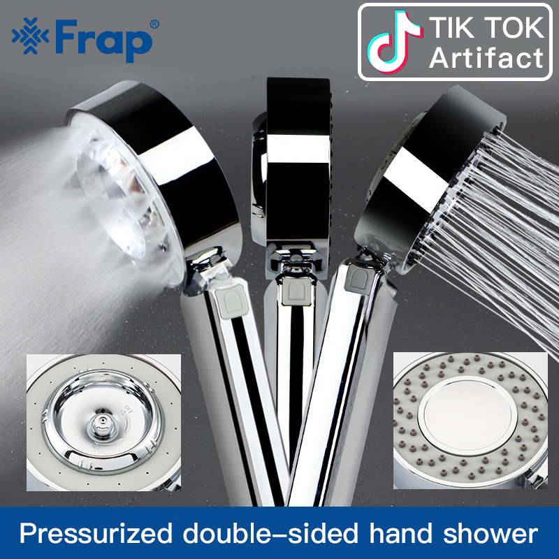 Frap Double And Single-sided SPA Water Sprinkler Pressurized Shower Head Handheld High-pressure Atomized Rain Beauty Shower Head