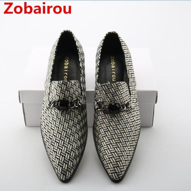 eadbb05c5a2 Zobairou European classic mens velvet loafers slip on brogue shoes blue genuine  leather wedding dress men shoes zapatos hombre