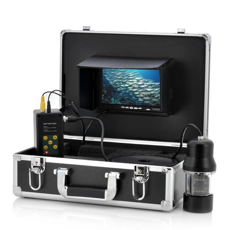 100m 360 Degree rotation SONY CCD PTZ Underwater video Camera with 7 Inch LCD fish video camera underwater fish camera with DVR