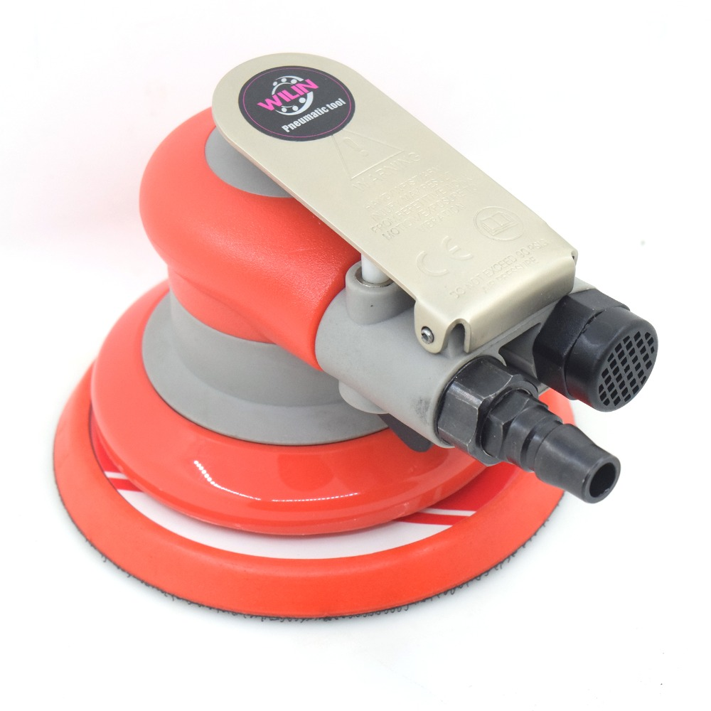Pneumatic Sanders TAIWAN Wilin Air Tools Palm Orbital Random Sander Polisher 5 Inch Circle Round Pad 20317