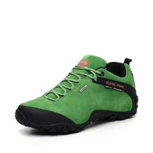 Woman Man Hiking Shoes Outdoor Breathable Mesh Unisex Shoes Slip resistant Wear Green Purple Pink Sneakers