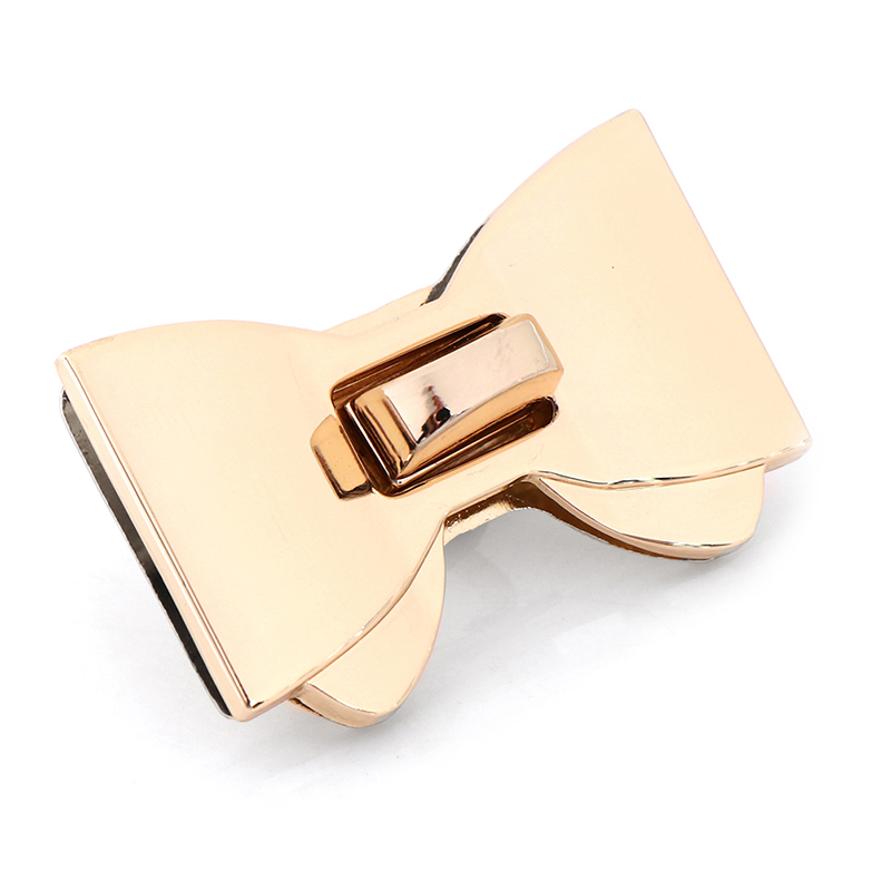 1PCS Fashion DIY Bowknot Shape Clasp Turn Locks Twist Lock DIY Handbag Bag Hardware Accessories