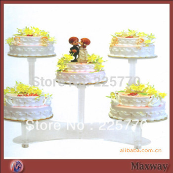 5 Tier Crystal Clear Circle Acrylic Round Cupcake Wedding Party Wedding Cake Stand Baby Shower Party Decor
