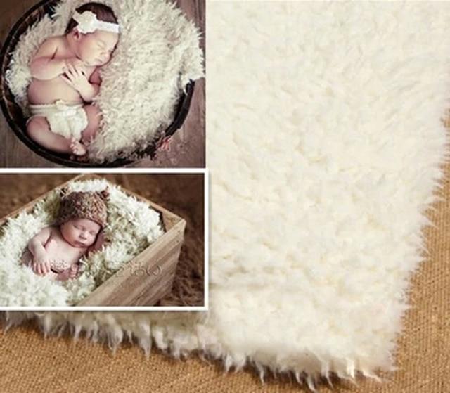 Infant newborn photography props blanket for baby fleece blanket white plush 100170cm the latest