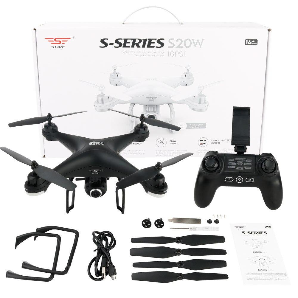 SJ S20W720P-D(GPS) FPV Adjustable 720P HD Camera Drone Wide Angle RTF Double RC Quadcopt ...