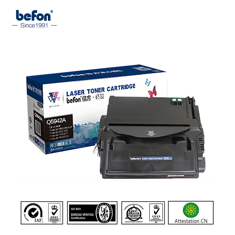 befon Q5942A q5942a 5942a 5942 Toner Cartridges Compatible for HP LaserJet 4250 4250n 4250tn 4250dtn 4250dtnsl 4350 4350n 4350tn 2x non oem toner cartridges compatible for oki b401 b401dn mb441 mb451 44992402 44992401 2500pages free shipping