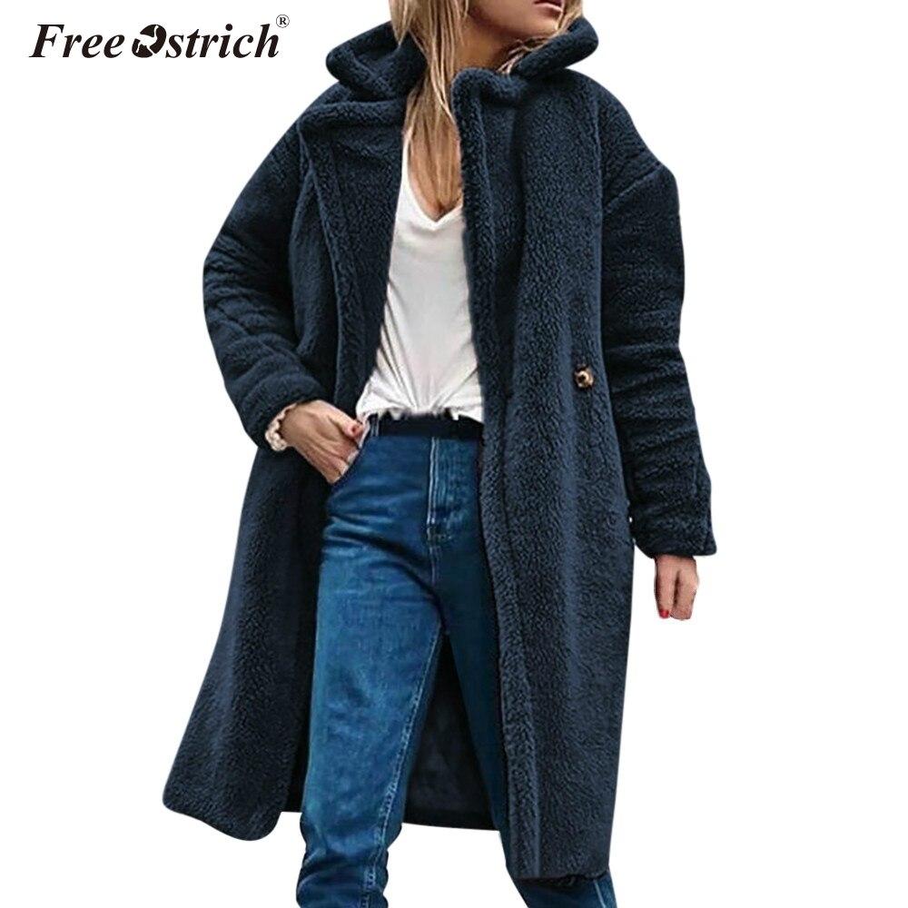 Libre De avestruz De la chaqueta De invierno De mujeres botón 2018 Ponchos  y capas chaquetas y abrigos De invierno 0c8745ded0cd