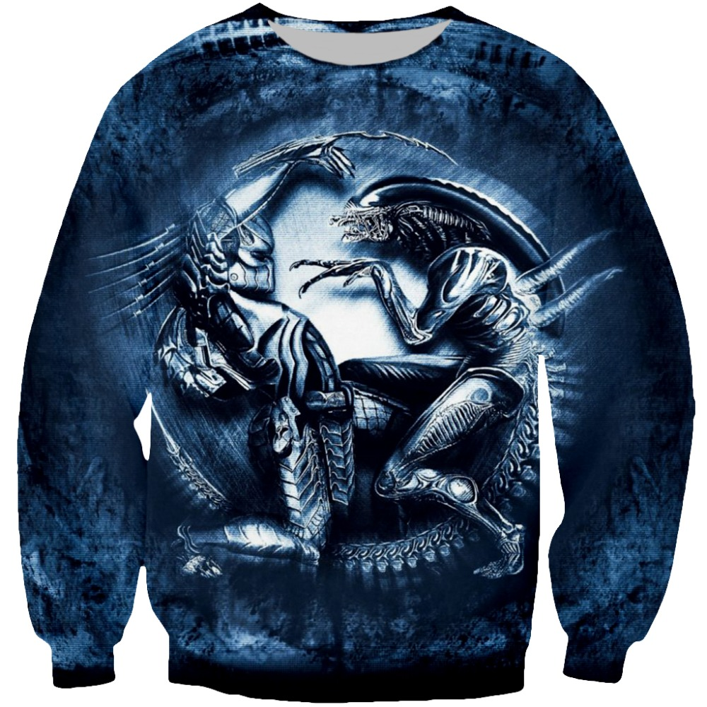PLstar Cosmos 2018 Predator And Alien Drop Shipping 3D Print Fashion Hoodies Women/Men's Casual Hooded Sweatshirt Top