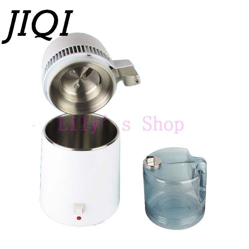 JIQI Household Water distilled machine pure Water Distiller Filter electric distillation Purifier stainless steel 110V 220V 4L spe pem usb charging h4high rich hydrogen water bottle lonizer w selfcleaning function electrolytic distilled mineral pure wate