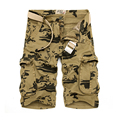 LANBAOSI 2017 Stylish Floral Printed Cargo Shorts Men Summer Casual Cotton Multi-Pocket Capris Bermuda Masculina