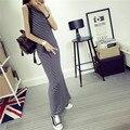 Snowlake primavera otoño nueva marca de moda femenina chaleco de la raya dress long dress ps28299