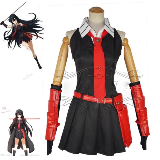 Akame ga KILL  Akame Cosplay Costume Dress full set Free Shipping