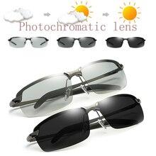 Photochromic Polarized Driving Sunglasses for Men Classic Eyewear Vintage Eye Gl