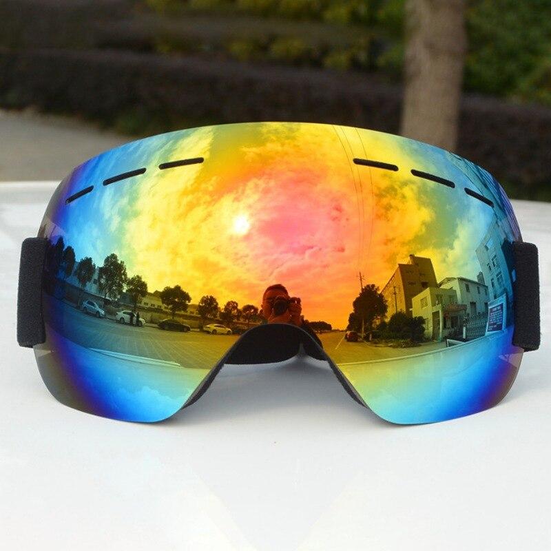 מותג סקי משקפי כפול שכבות UV400 אנטי ערפל גדול סקי מסכת משקפיים סקי יוניסקס שלג סנובורד משקפי
