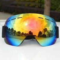 Marca óculos de esqui uv400 anti-nevoeiro grande máscara de esqui esqui unisex neve snowboard óculos