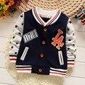 2016 Primavera Outono Crianças dos miúdos Casuais Meninos Estrela de Manga Comprida Casacos Cardigan Bebê Crianças Casacos Outwear Casaco MT852