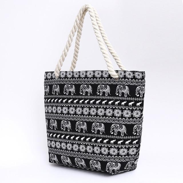 Women Canvas Beach Bag Fashion Color Stripes Printing Handbags Ladies Large Shoulder Bag Totes Casual Shopping Bags 1